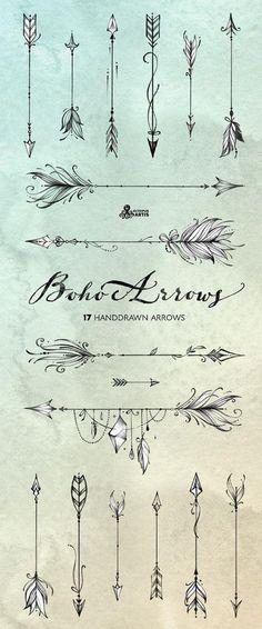 Boho Arrows 17 hand drawn clipart Tribal Native D Piercings, Piercing Tattoo, Trendy Tattoos, Small Tattoos, Small Arrow Tattoos, Boho Tattoos, Arrow Finger Tattoos, Bohemian Tattoo Ideas, Tribal Hand Tattoos