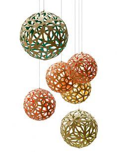 """Furnierleuchte """"Coral Lamp"""" von David Trabridge"""