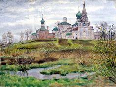 Травников Герман Алексеевич (род. 1937) Вербное воскресенье. 1989 г.