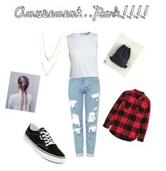 """""""A day at the amusement park!!!"""" by calumkitty123 on Polyvore featuring Topshop, Canvas by Lands' End and Vans"""