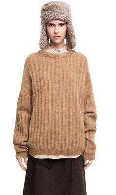 Dramatic moh camel Mohair Sweater, Acne Studios, Camel, Kimono, Denim,  Knitting 332b5e21082