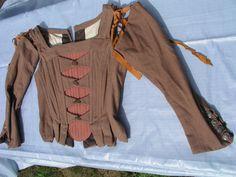 BBC costume boned bodice bustier stomacher 16thc 17thc Tudor wench theatre LARP | eBay Vintage Gowns, Vintage Outfits, Theatre Costumes, Period Costumes, Larp, Tudor, Fancy Dress, Bodice, Antique Clothing