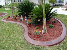borders for small flower gardens | small garden edging design from concrete