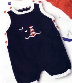 Bergere de France Babies Knitting Patterns Romper Knitting Pattern
