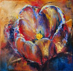A flower painting that evolved from being a blue flower to a colourful and vibrant flower. Prince Edward Island, Never Give Up, Make You Smile, Blue Flowers, I Am Awesome, Palette, Vibrant, Painting, Color