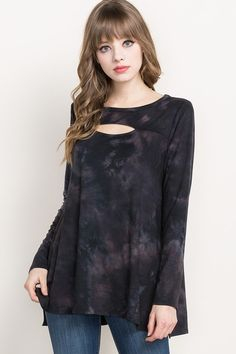 Black/Grey Tie Dye Tunic Top - Sm to Lg OPEN Monday! Come Shop After Christmas * Draw Your Discount Save 5-40% off!  (includes name brands up to 20%) Closing at 5