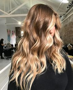 Trendy Long Hair Women's Styles Hair goals long brunette waves with blonde balayage - #HairStyle