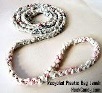 Recycled Plastic Bag Yarn (plarn) Leash