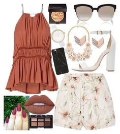 Untitled #1060 by rebecamartinez6 on Polyvore featuring polyvore fashion style Haute Hippie Schutz River Island FOSSIL Christian Dior Lime Crime Laura Mercier NARS Cosmetics clothing