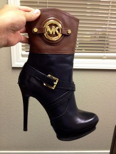 The newest addition to my shoe addiction MK bootie