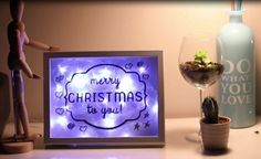 DIY de natal - Quadro iluminado para decorar a sua casa!
