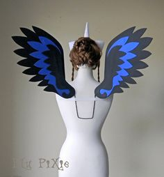 Nightmare Moon My Little Pony Cosplay Wings Large by blupixie
