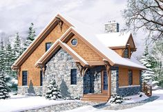 Bungalow Cottage Country Craftsman Elevation of Plan 65246