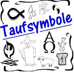 Bild Symbole zur Taufe