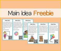 Main Idea Task Cards. Use these task cards to get kids practicing how to find the main idea and supporting details.   Answer key in QR Codes.   Check out the full versions:  Main Idea Task Cards or Main Idea Bundle  *** For problems and questions, contact me at rollerenglish@gmail.com Blog with exclusive giveaways and updates.