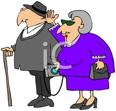 Royalty Free Clipart Image of an Elderly Couple
