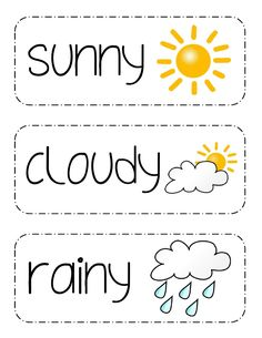 Printable Weather Picture Cards