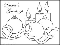 christmas candle coloring pages Candles Lanterns FREE