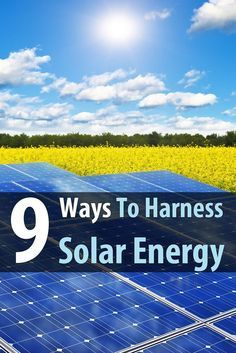 Solar power is renewable, it's everywhere, and it works. In this article, we cover nine different products that harness solar energy. via @urbanalan