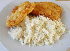 Szénhidrátcsökkentett rántott hús, vagy bundás hús Szafi Reform lángos lisztkeverékkel vagy Szafi Reform kenyér és péksütemény lisztkeverékkel (gluténmentes, tejmentes, szójamentes) – Éhezésmentes karcsúság Szafival Risotto, Grains, Rice, Ethnic Recipes, Food, Eten, Seeds, Meals, Korn