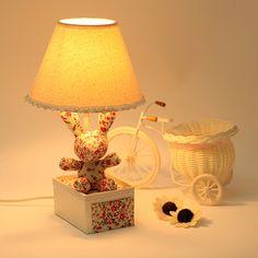 1300 Ткань коттедж ребенок в салоне спальня ночники деревенский мультфильм творческий ночник, принадлежащий категории Настольные лампы и относящийся к Свет и освещение на сайте AliExpress.com | Alibaba Group