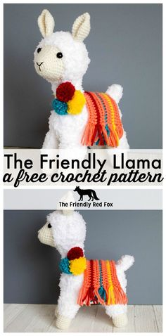 Make this adorable crochet llama with this free crochet llama pattern! Tips on how to use the fuzzy yarn, along with the patterns for the pom pom and blanket! #crochet #crochetaddict #crochetllama #amigurumi #amigurumitoy