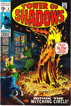 Tower of Shadows 4 Marvel Comics Witching Witch by LifeofComics Witching Witch Monsters Tales of Horror Fear Terror Scary Creepy Marie Severin 1970 #comicbooks