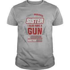 I Have a Beautiful Sister and an Alibi T Shirts, Hoodies, Sweatshirts. CHECK PRICE ==► https://www.sunfrog.com/Funny/I-Have-a-Beautiful-Sister-and-an-Alibi-Tee-Sports-Grey-Guys.html?41382