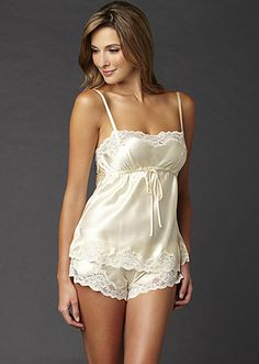 "silk lingerie with ""shorts"""