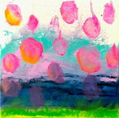 "Saatchi Art Artist Birgit  Nagengast; Drawing, ""Summerplopps"" #art"