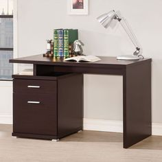 Coaster Furniture Cappuccino Desk with Two Drawers - 800109