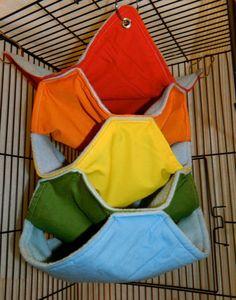 Rainbow Light Blue Fleece Hammock for Small Animals- Rat, Chinchilla, Sugar Glider, Ferret via Etsy hunt tent cage Ferret Toys, Ferret Cage, Pet Ferret, Pet Rats, Ferrets, Sugar Glider Toys, Sugar Gliders, Cage Rat, Gerbil