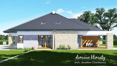 Projekt domu Bagatela 6 G2, wizualizacja 2 Craftsman House Plans, Garage Doors, Outdoor Decor, Design, Home Decor, Houses, Decoration Home, Room Decor