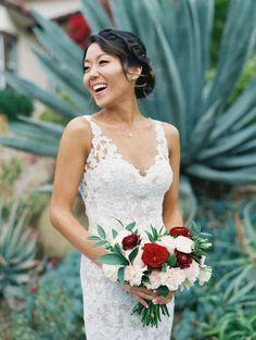 Gorgeous lace wedding gown: http://www.stylemepretty.com/2016/05/27/red-boho-style-ranch-wedding/   Photography: Carmen Santorelli - http://carmensantorellistudio.com/