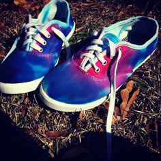 Tie dye shoes.