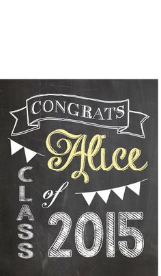 Custom Vintage Chalkboard Sign (Digital File) - Graduation Welcome Sign Birthday Shower Weddings