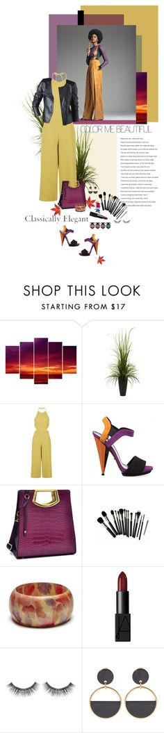 """Culotte~"" by prettynposh2 ❤ liked on Polyvore featuring Nearly Natural, Marc, Topshop, Gucci, Dasein, Sole Society, Promod, NARS Cosmetics, Sephora Collection and Marni"