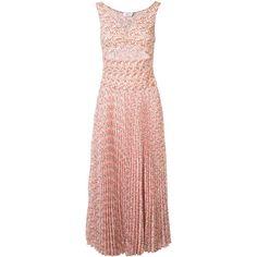 A.L.C. - peach print pleated dress - women - Silk - 6 ($745) via Polyvore featuring dresses, pink silk dress, print dresses, silk dress, silk print dress and pink pleated dress