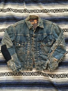 intriguing-individualism: One of my vintage 1950s Levis type 2 Denim jackets. The patina on this is perfect. Now for sale on ebay.