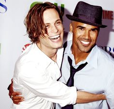 """just gorgeous - Lord help me, this is TOO much in one pic!  I love them BOTH!!!! Sorry, Shemar, but """"The Gube"""" is adorable....love him!"""