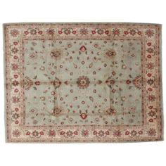 "Leon Banilivi Aqua Zeigler Carpet - 6'7"" x 8'8"" ($2,200) ❤ liked on Polyvore featuring home, rugs, aqua rug, persian style rugs, persian area rugs, persian rugs and blue green area rug"