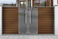 New Gate Design, Modern Main Gate Designs, Gate Wall Design, House Main Gates Design, Steel Gate Design, Front Gate Design, Main Door Design, Railing Design, House Design