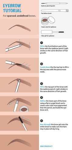 Desi Perkins is one of my favorite makeup YouTubers. This is a step by step illustrated tutorial, a cheat sheet if you will, of her latest eyebrow routine tutorial*.    Starting point: sparsed, undefined brows         Fill in