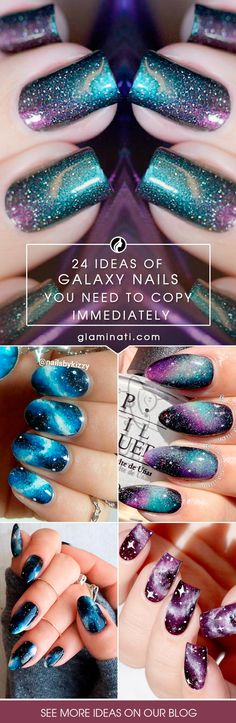 Are you mesmerized by the galaxy nails trend? We think that this manicure design is one of the most fabulous. See our ideas of starry nails.