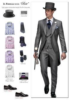 Italian wedding suits, morning suit model: G10-(380)