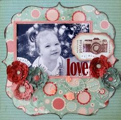 Definitely a lovely layout made with #Clear Scraps and #GlueArts products. Designed for us by @Lesley Langdon