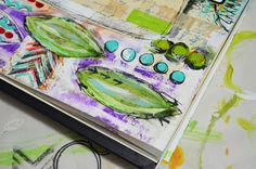 """""""Every Life Has a Story!"""" - {Roben-Marie Smith} - Watch the Process - Happy Day art journal page"""