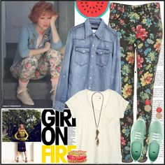Floral jeans, weird how things always seem to.come back into style