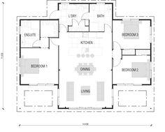 Lockwood  131m Home Building, Wooden Floor & Timber Frame House Plans New Zealand