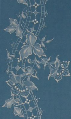 T T art deco abstract floral white work